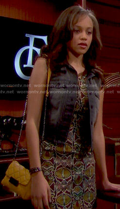 Nicole's printed dress on The Bold and the Beautiful