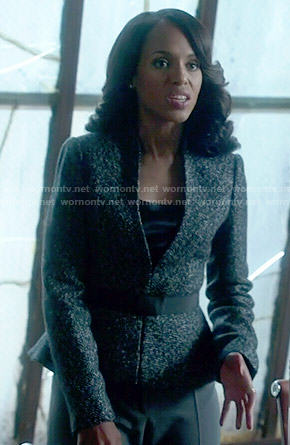 Olivia's tweed peplum blazer on Scandal