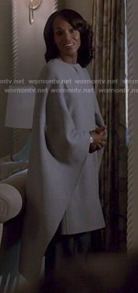 Olivia's grey caped coat on Scandal