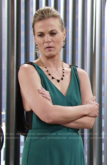 Phyllis's green jumpsuit on The Young and the Restless
