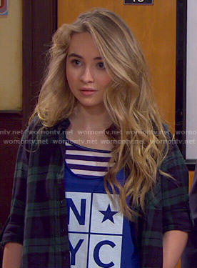 Maya's blue NYC tank top on Girl Meets World