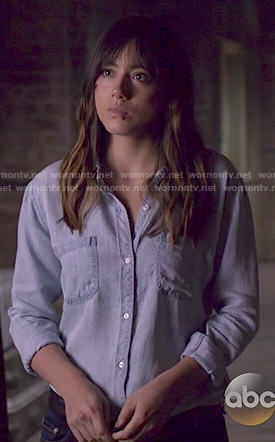 Skye's chambray shirt with pockets on Agents of SHIELD