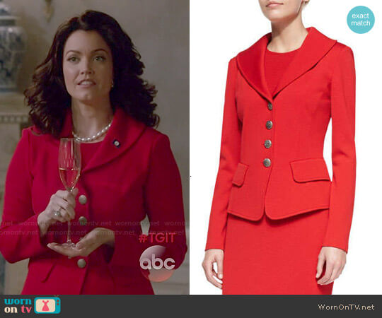 St John Collection 4 Button Blazer worn by Mellie Grant (Bellamy Young) on Scandal