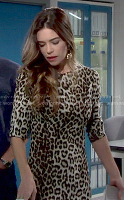Victoria's leopard print dress on The Young and the Restless