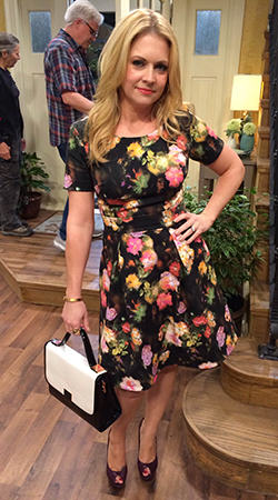 Mel's floral dress on Melissa and Joey