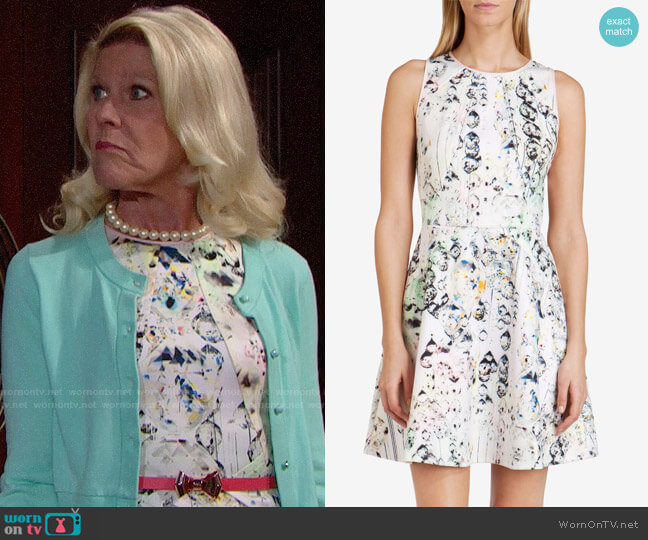 Ted Baker Sapira Crystal Droplets Dress worn by Pamela Douglas (Alley Mills) on The Bold & the Beautiful