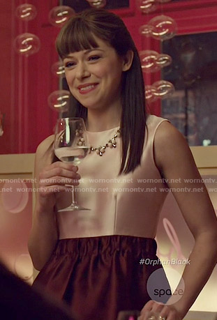 Alison's pink and red dress on Orphan Black