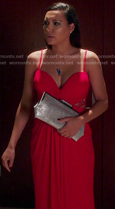 Blanca's red gown on Devious Maids