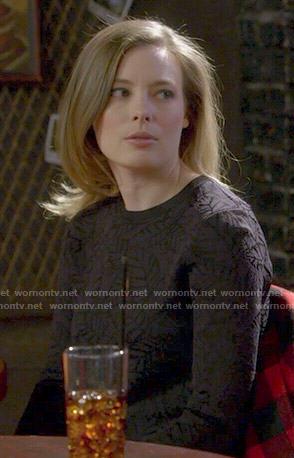 Britta's leaf print sweater on Community