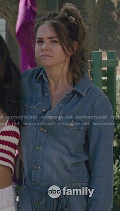 Callie's chambray romper on The Fosters
