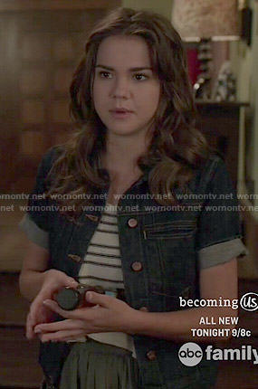 Callie's short sleeved denim jacket on The Fosters