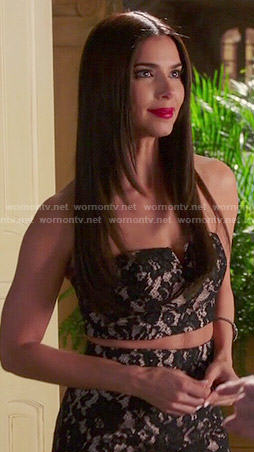 Carmen's lace two-piece gown on Devious Maids