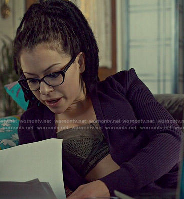 Cosima's lace trim bralette on Orphan Black