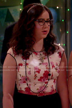 Delia's floral dance dress on I Didn't Do It