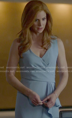Donna's blue ruffled dress on Suits