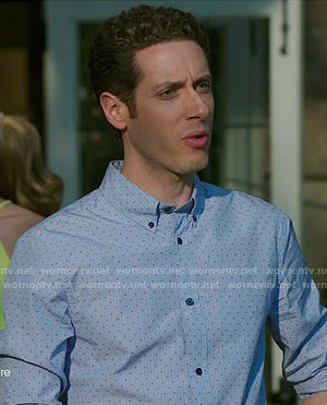 Evan's stripe and dot print shirt on Royal Pains