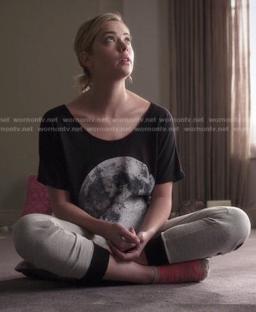 Hanna's moon t-shirt on Pretty Little Liars