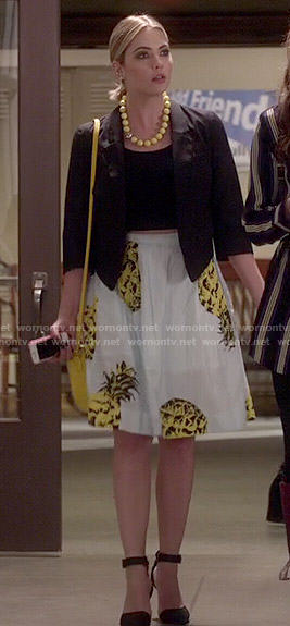 Hanna's pineapple print skirt on Pretty Little Liars