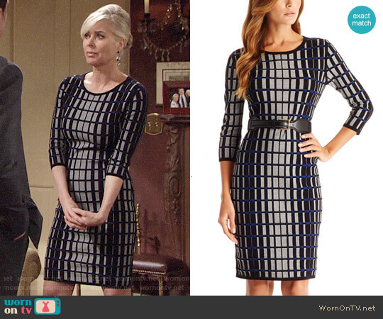 Hugo Boss 'F5133' Viscose Blend Knit Sweater Dress worn by Ashley Abbott (Eileen Davidson) on The Young & the Restless