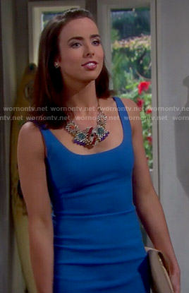 Ivy's blue dress on The Bold and the Beautiful
