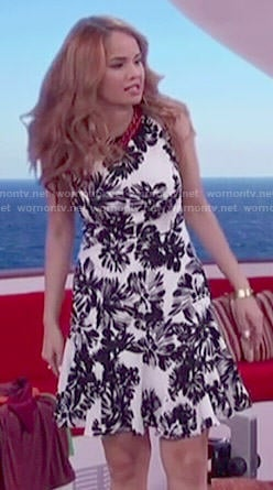Jessie's black and white floral dress on Jessie