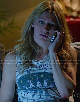 Joss's 'La Lune' tank top on Mistresses