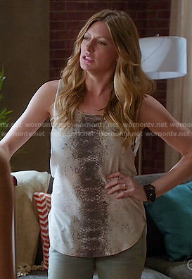 Josslyn's snake print tank top on Mistresses