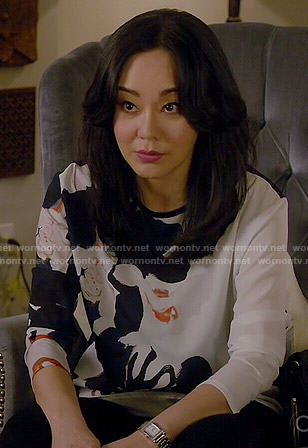 Karen's floral top on Mistresses