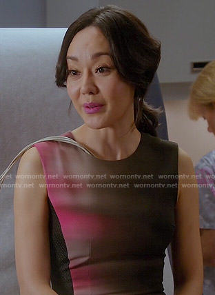 Karen's pink and black ombre dress on Mistresses