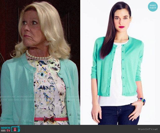 Kate Spade Caroline Cardigan worn by Pamela Douglas (Alley Mills) on The Bold & the Beautiful
