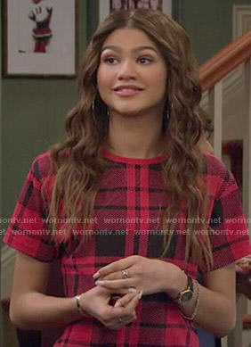 KC's red tartan tee on KC Undercover