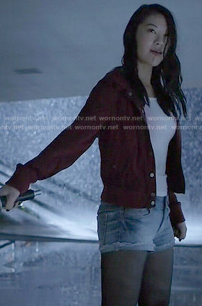 Kira's red jacket on Teen Wolf