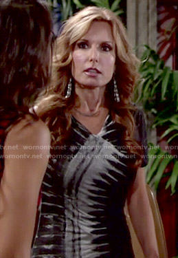 Lauren's tie dyed dress on The Young and the Restless