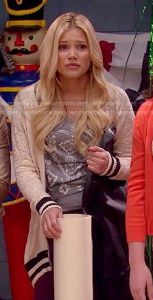 Lindy's lace varsity jacket on I Didn't Do It