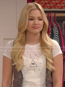 Lindy's triangle eye tee on I Didn't Do It