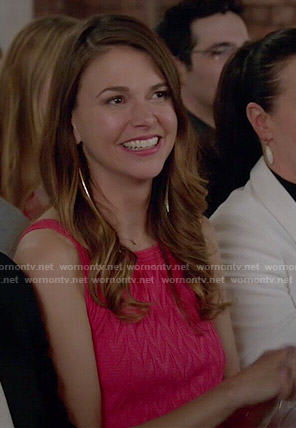 Liza's pink chevron knit dress on Younger