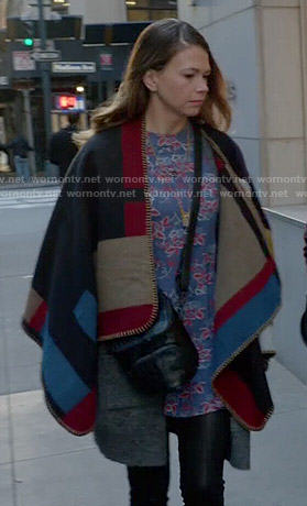 Liza's colorblock poncho on Younger