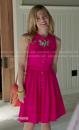 Paige's pink shirtdress on Royal Pains