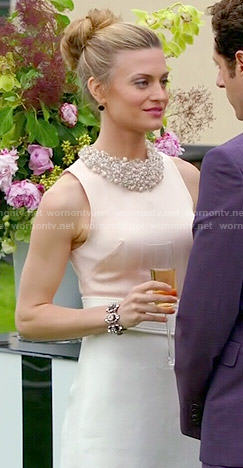 Paige's two-tone belted dress on Royal Pains
