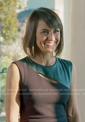 Quinn's black leather panel top on UnReal
