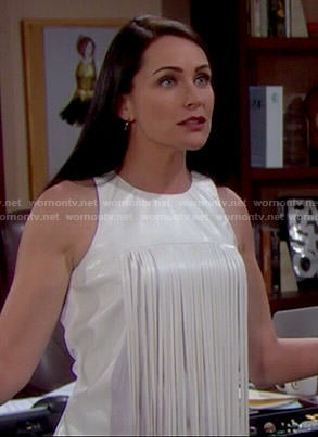 Quinn's white fringed top on The Bold and the Beautiful