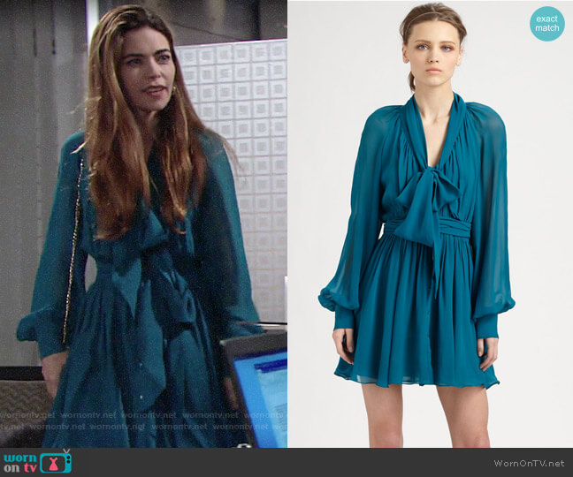 Rachel Zoe Arielle Dress worn by Victoria Newman (Amelia Heinle) on The Young & the Restless