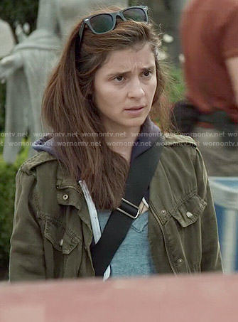 Rachel's green army jacket on UnReal