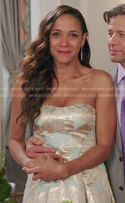 Rosie's mint green strapless dress on Devious Maids