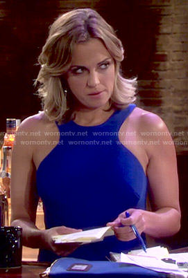 Sage's blue dress on The Young and the Restless
