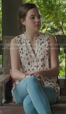 Sophia's strawberry print top on The Fosters