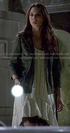 Spencer's cream high-low dress on Pretty Little Liars