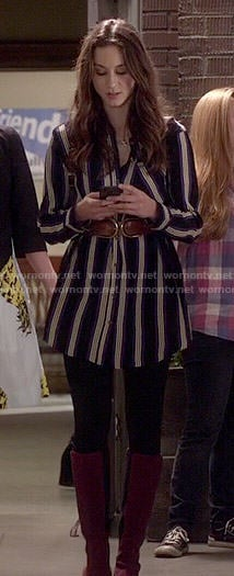 Spencer's striped shirtdress on Pretty Little Liars