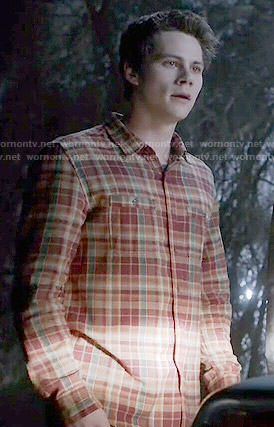 Stiles's plaid shirt on Teen Wolf