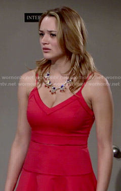 Summer's red sundress on The Young and the Restless